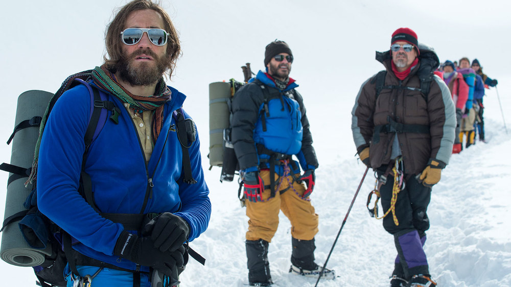 Jake Gyllenhaal, Josh Brolin, and Martin Henderson are among the many talented cast members of Everest - image via Google.