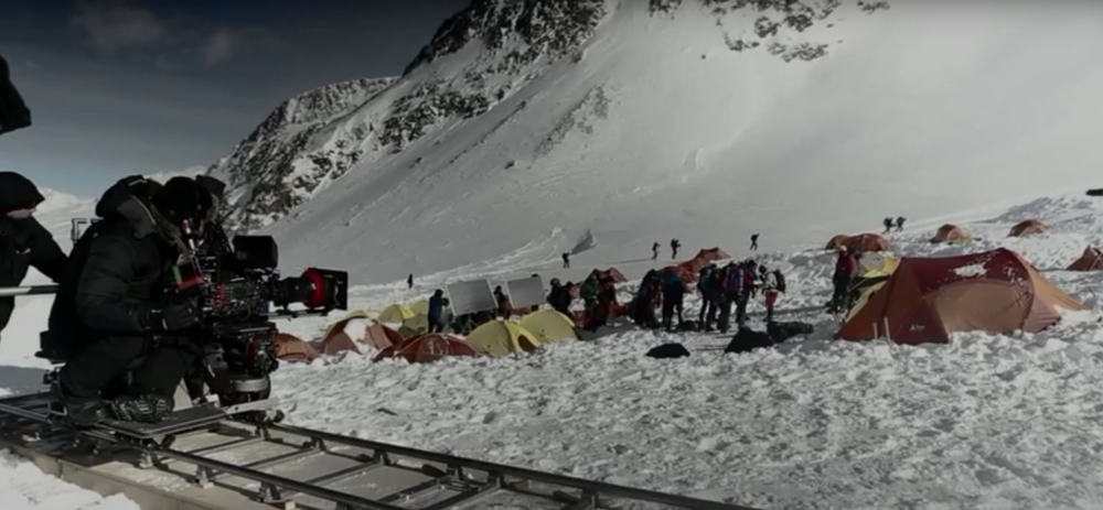 Behind-the-scene on the set of Everest - screenshot via YouTube.