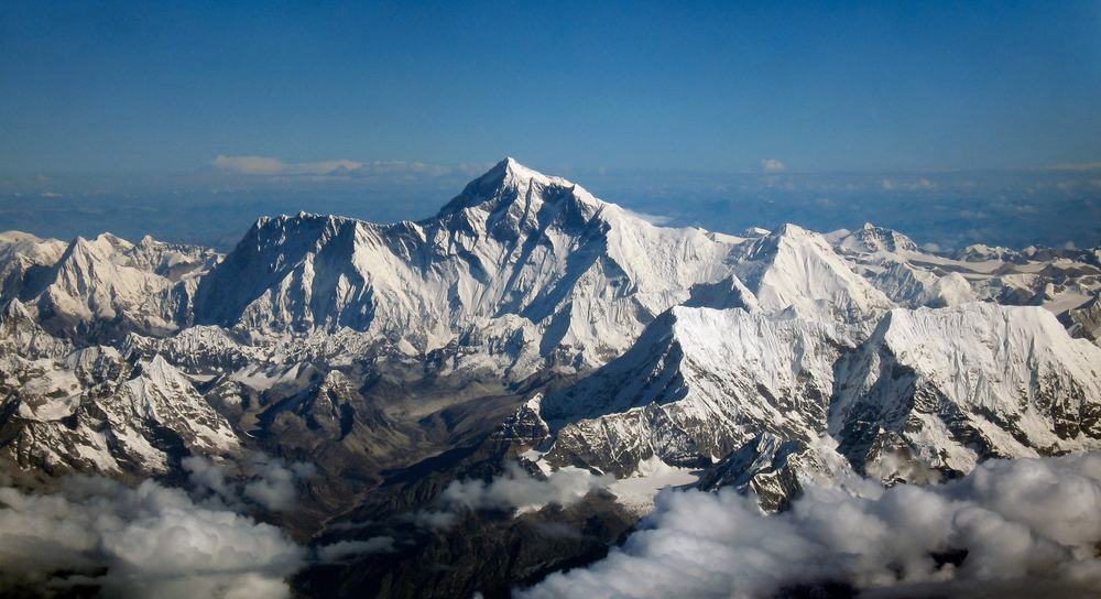 Photo of Mount Everest - via Wikipedia.