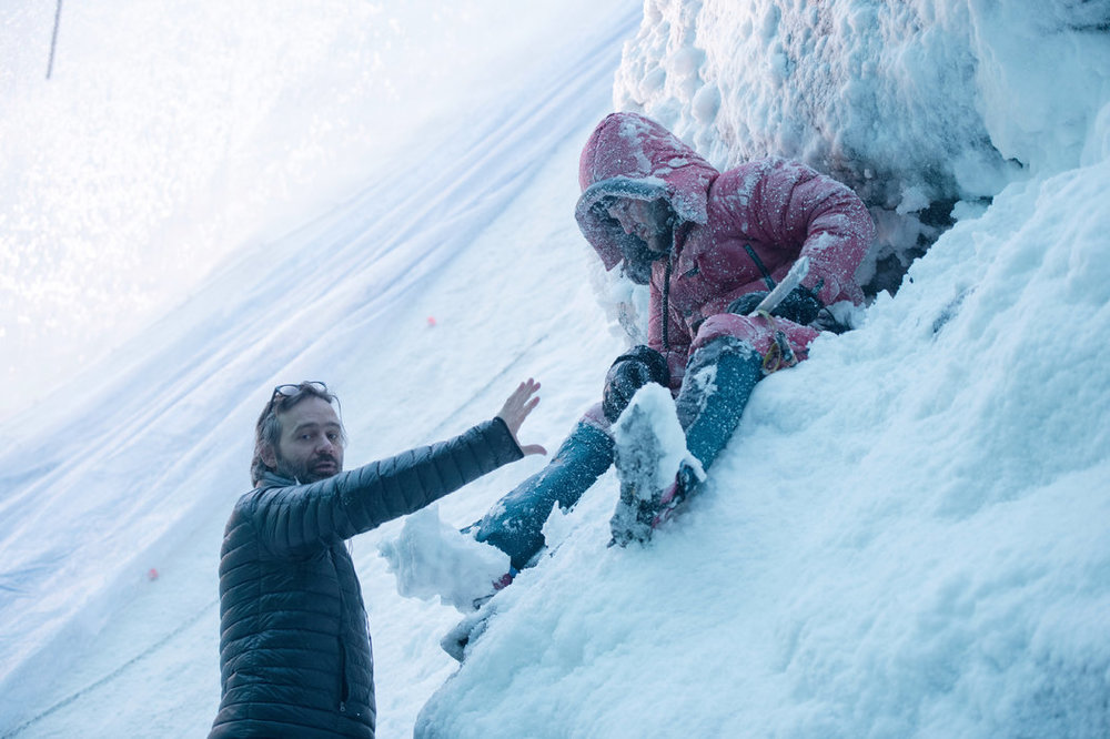 Baltasar Kormákur, director of Everest (left), and actor Jason Clarke (right) - image via New York Times.