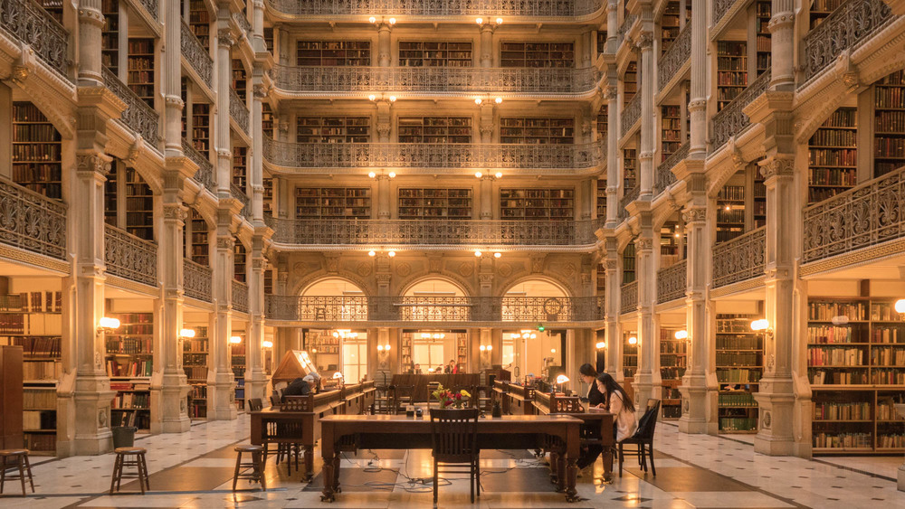 The George Peabody Library's main reading room.