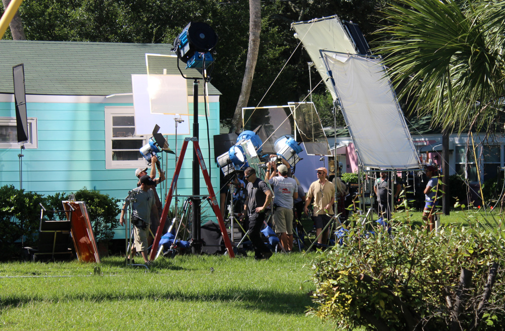 On the set of  Gifted  - filmed in a private home in Savannah. Image via  Google .