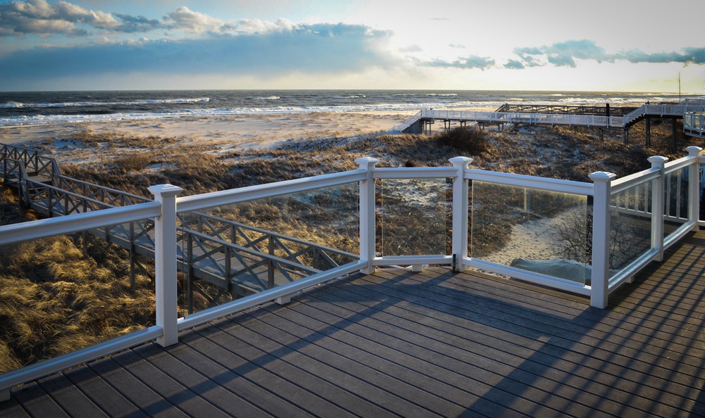 Featured location oceanfront hampton beach house for Beach house plans with decks