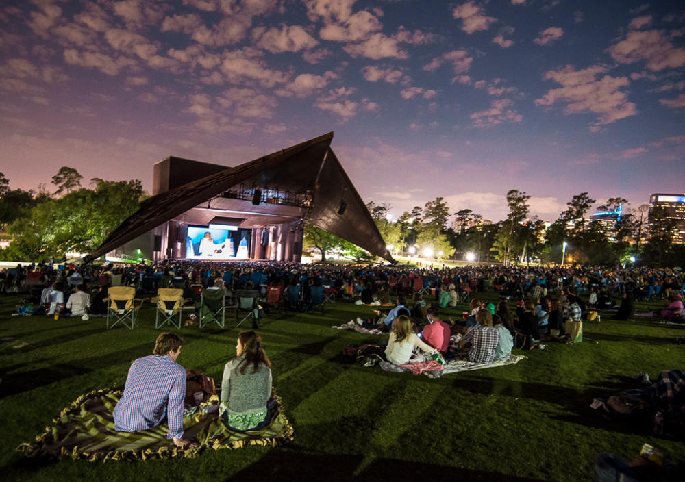 Miller Outdoor Theater in Houston, Texas - one of the film locations of Boyhood. Image via  Google .