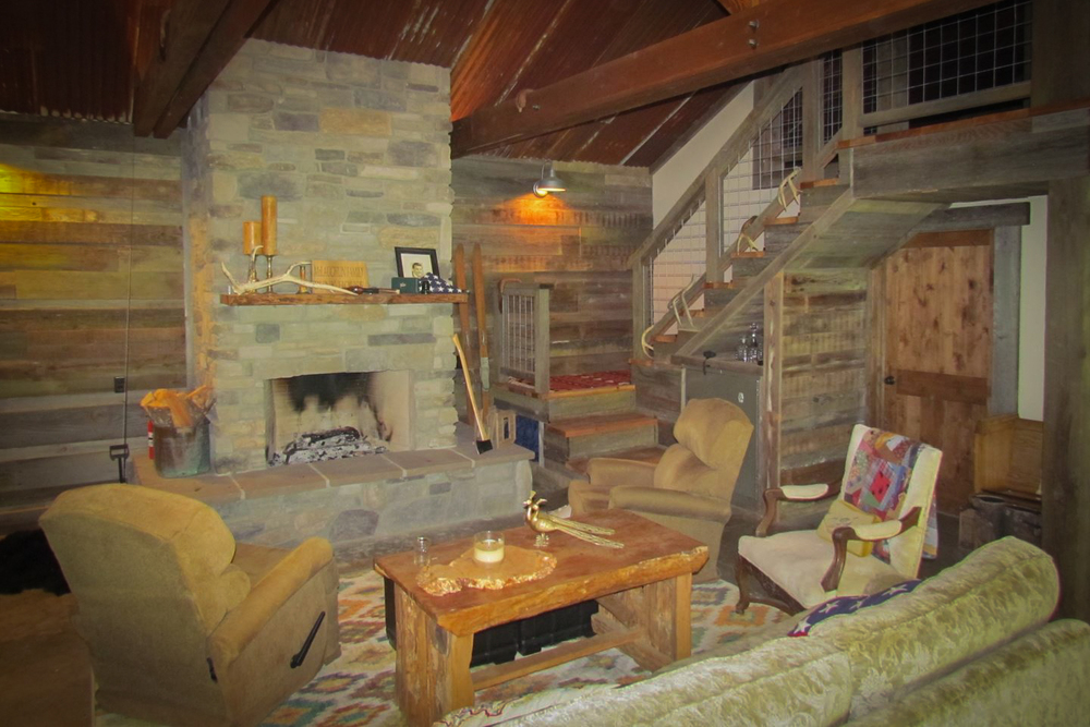 The living room of the Bunk House.