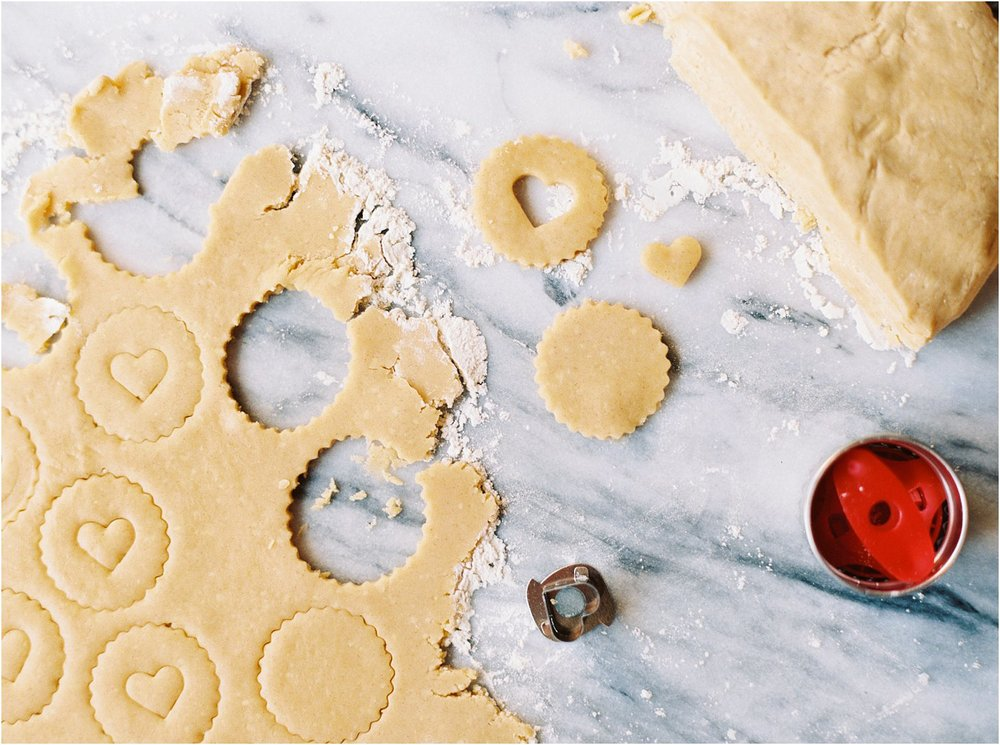 Fine Art Film Photographer - Baking - Linzer Cookies