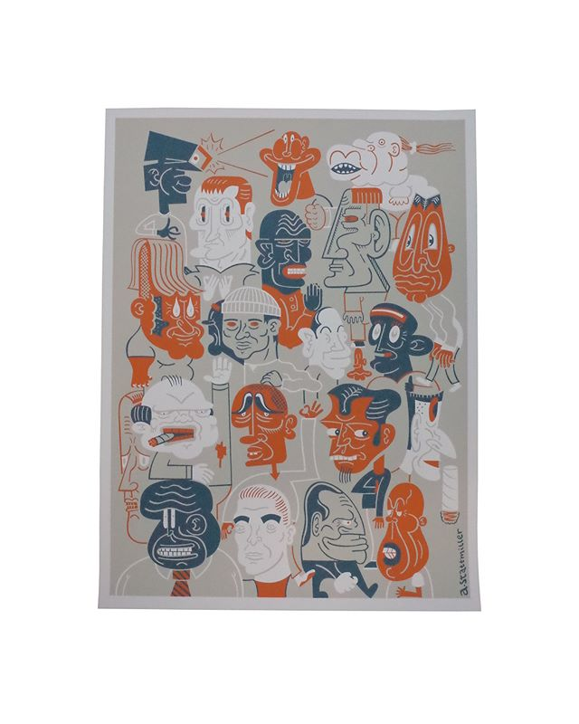 "18x24 3 colors On White ,"" Artist : @astatt  #characters #limitededition #artwork #cartoon #prints #sanfrancisco #astatt #illustration #art #poster #seizurepalace #screenprinting #artprint #screenprinted #posters"