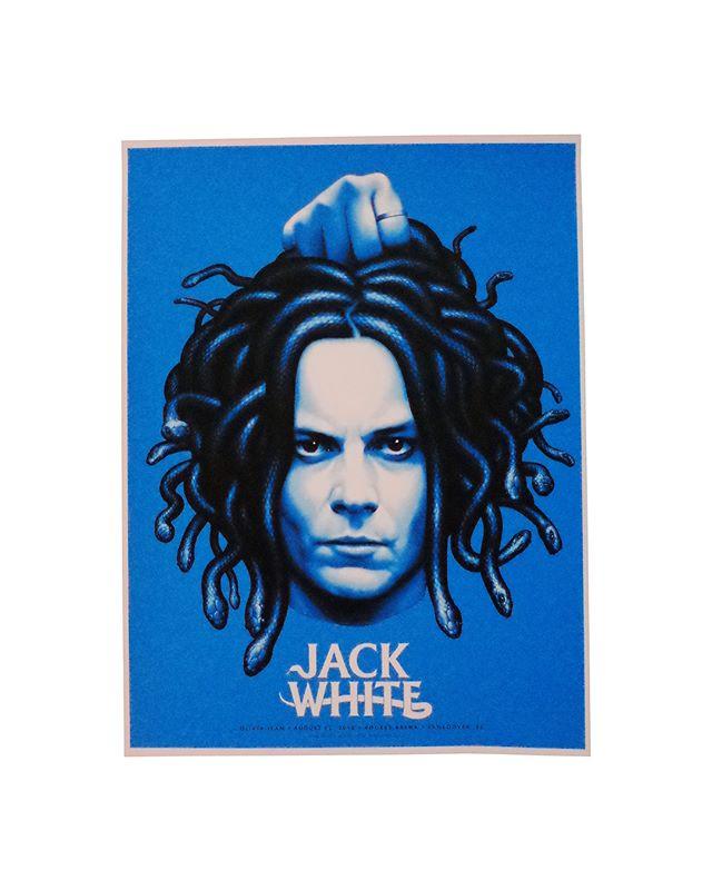 18x24 5 colors  On White  @officialjackwhitelive  Artist : @justinericksonart  Justin Erickson  #seizurepalace #screenprinting #artprint #screenprinted #posters #jackwhite #gigposter #art #screenprint #vancouver #rogersarena #justinerickson #phantomcitycreative