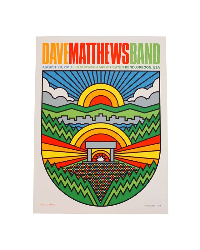 18x24 8 colors  On Cream Paper  Artist : @draplin  Aaron James Draplin  #ddcrockposterdepartment #thicklines #clientrelations #proundmoments #dmb #bend #oregon #rollingupoursleeves #seizurepalace #screenprinting #artprint #screenprinted #posters #portland