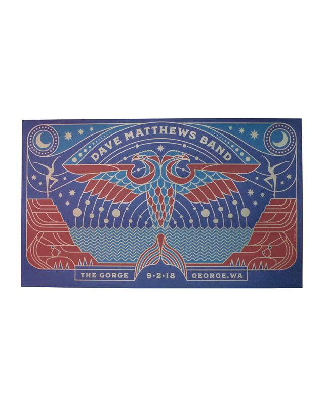 14.38x24 3 colors  On 100# Strathmore Blazer Blue  Artist : @briansteely Brian Steely  #steelyworks #davematthewsband #seizurepalace #screenprinting #artprint #screenprinted #posters #portland