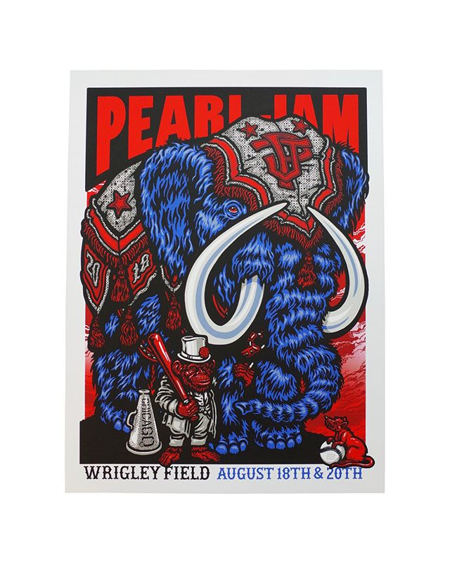 18x24 6 colors  On White  Artist : @amesbros  #amesbros #seizurepalace #screenprinting #artprint #screenprinted #posters #portland #pearljam
