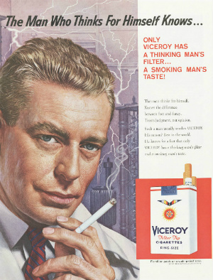 Viceroy advertisement, 1959