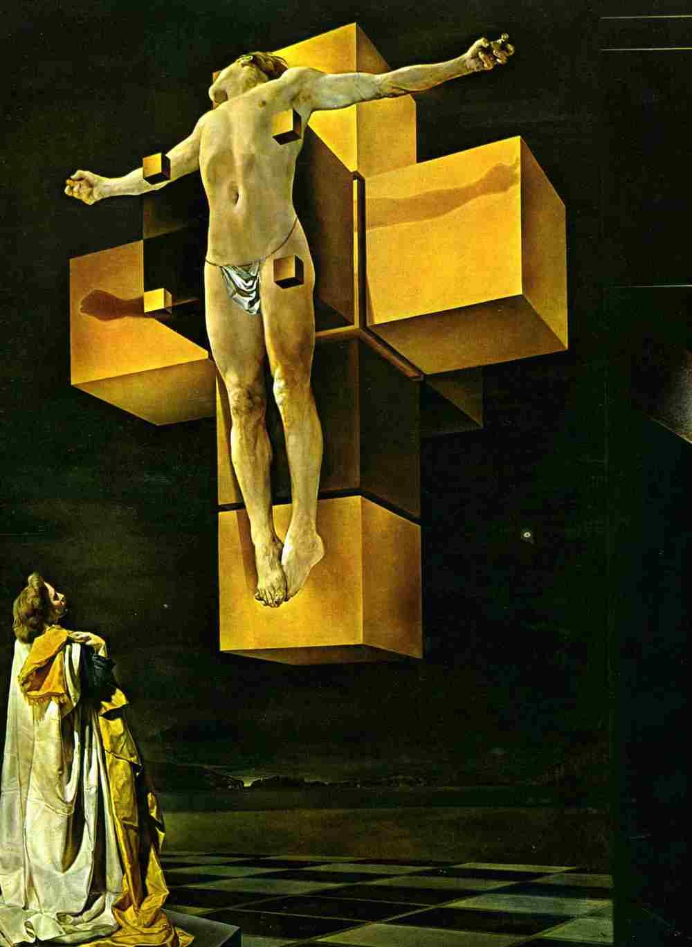 Crucifixion (Corpus Hypercubus) by Salvador Dali, 1954
