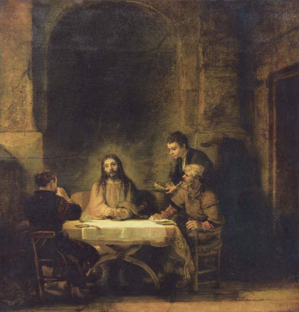 Rembrandt,Pilgrims at Emmaus, 1648