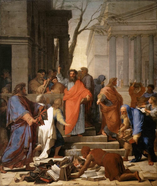 Eustache Le Sueur, The Preaching of St Paul at Ephesus, 1649