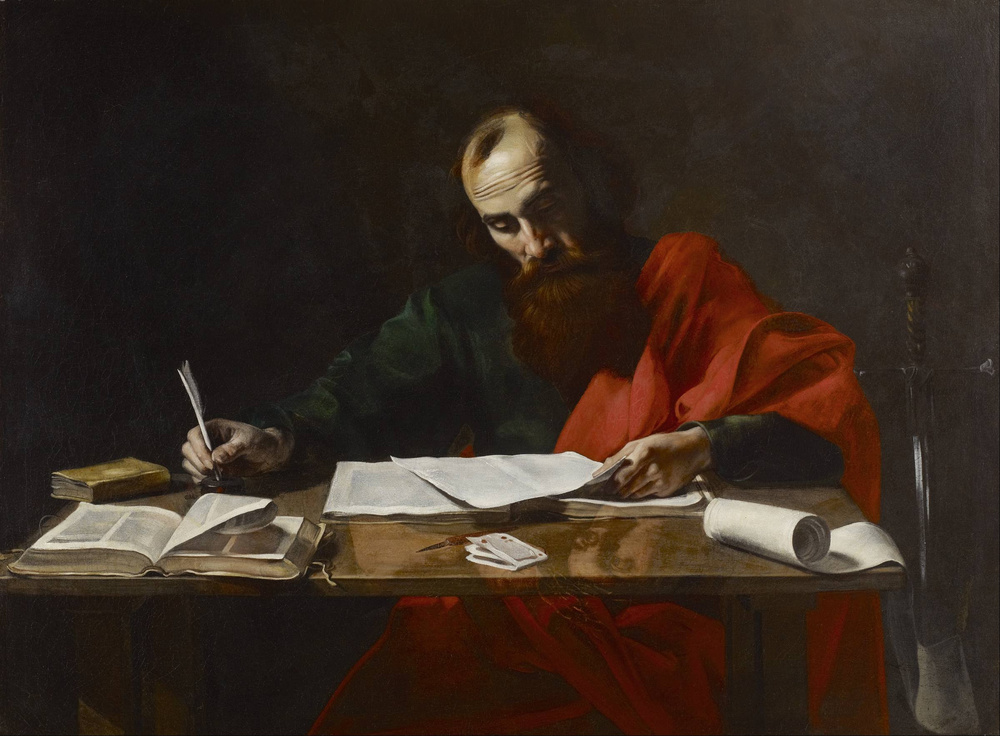 Saint Paul Writing His Epistles, (Probably) Valantin De Boulogne, 1618-20
