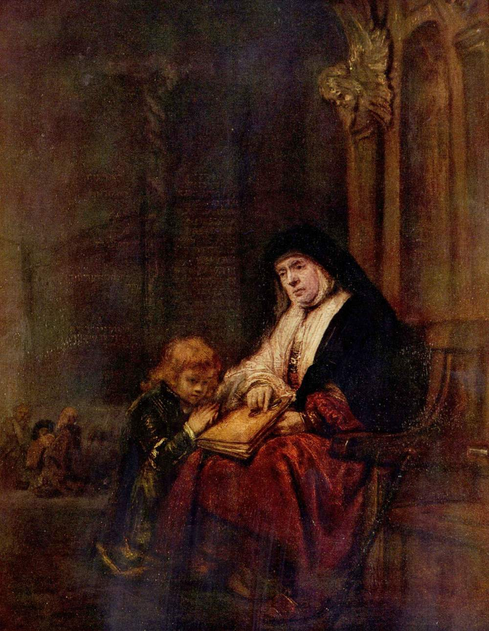 Rembrandt, Timothy and his Grandmother, 1648