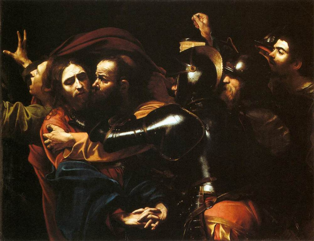 Caravaggio, The Taking of Christ, 1602