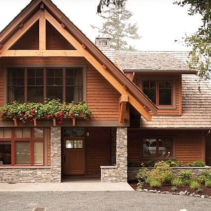 Pacific Northwest Lodge-inspired Home in Anacortes, Washington