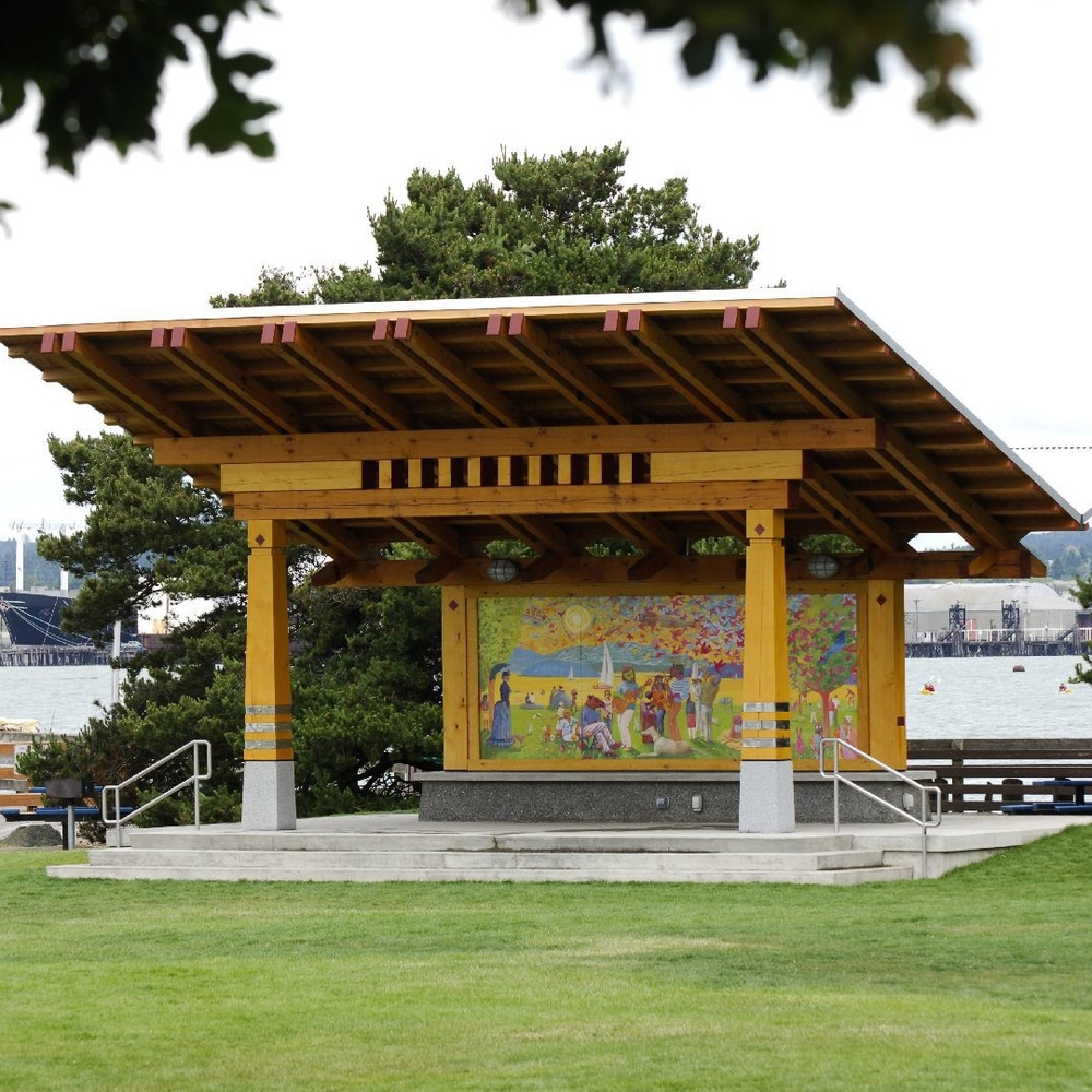 Timber Park Pavilion on Bellingham Waterfront