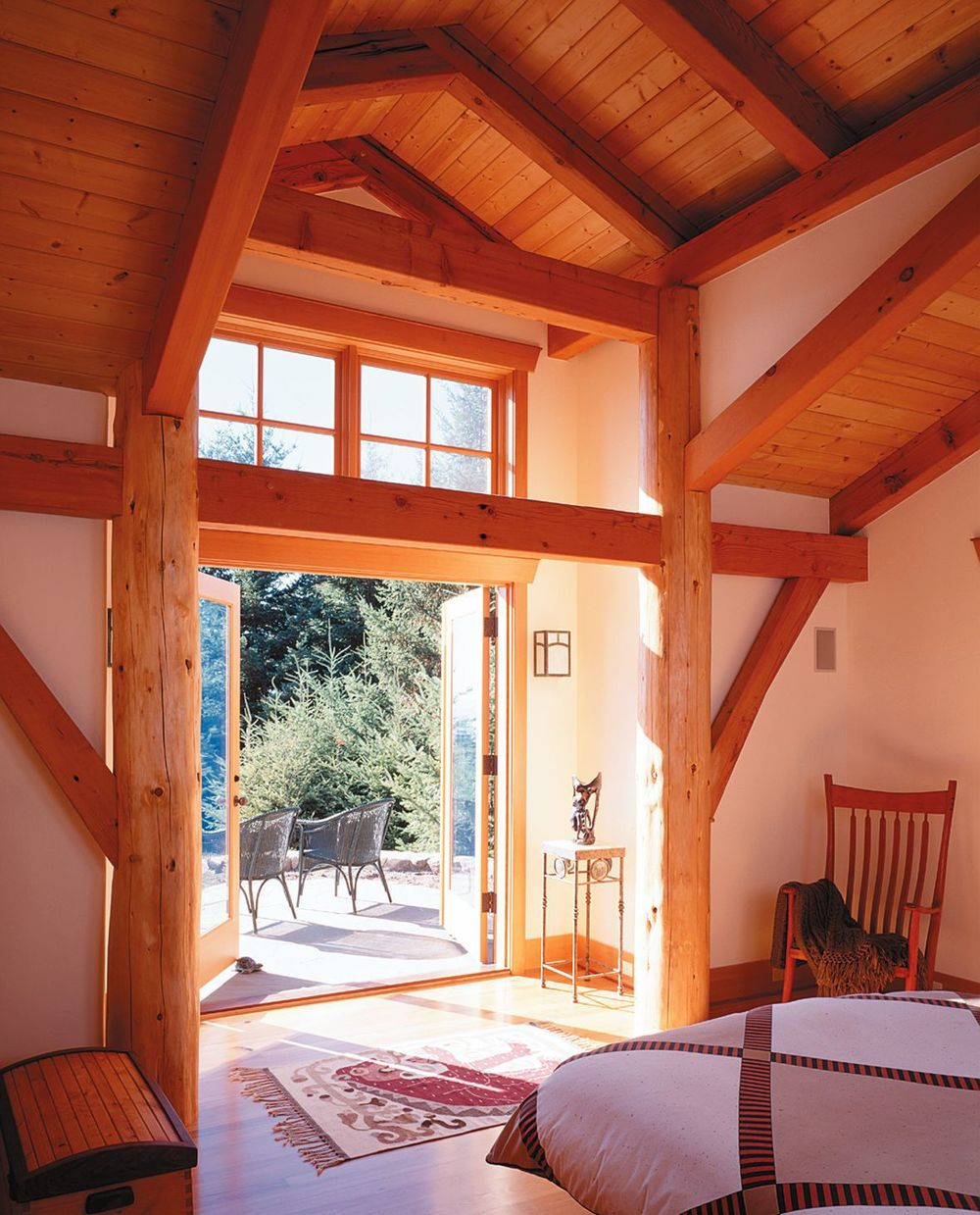 ... San Juan Island Timber Frame Home   Interior ...