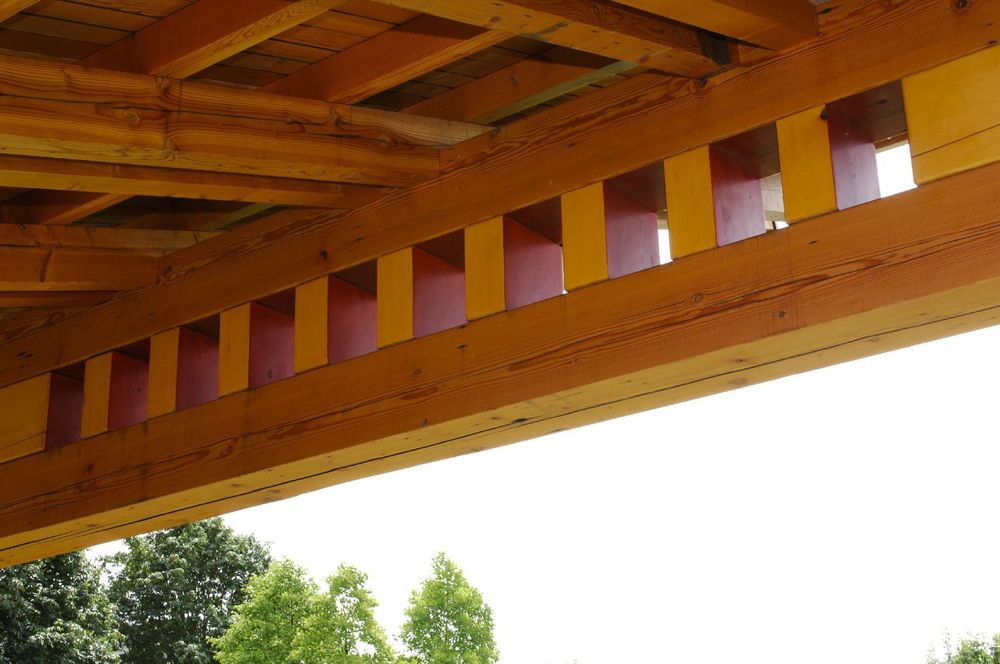 Bellingham Timber Frame Pavilion - Interior Roof