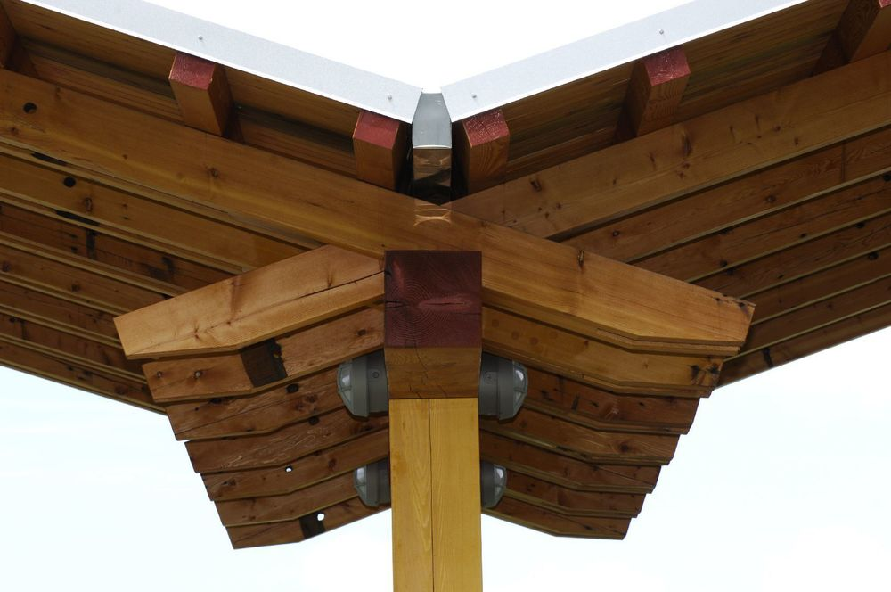 Bellingham Timber Frame Pavilion - Roof Construction