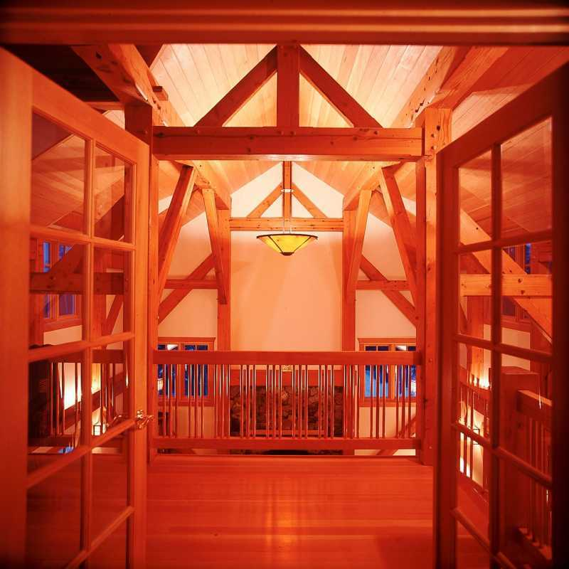 Modern Timber Frame Home - Interior Beams