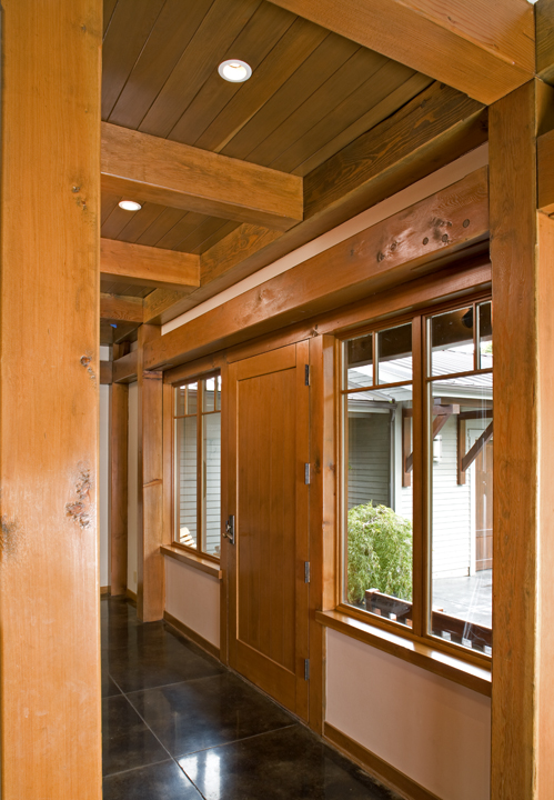 Large Bellingham Modern Home - Timber Frame Interior