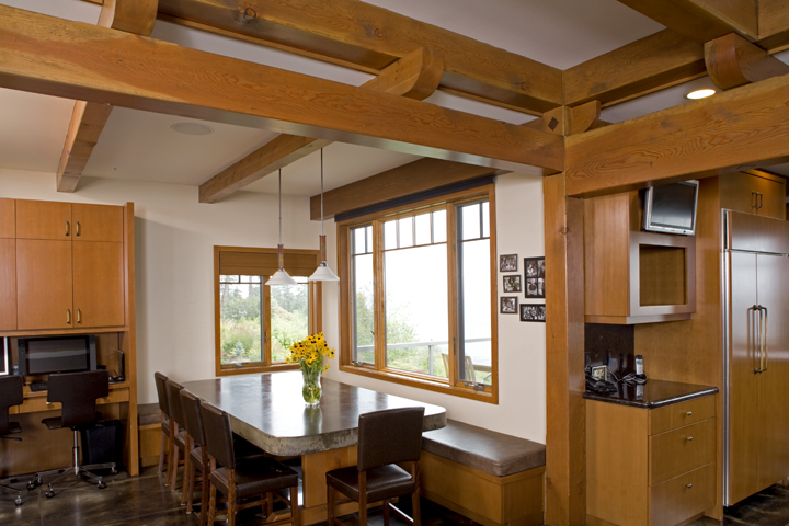 Large Modern Bellingham Family Home - Timber Frame Interior