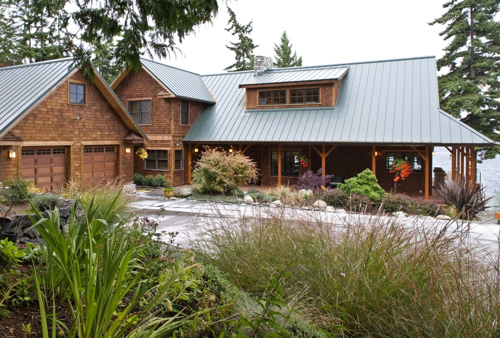 Port Ludlow Washington Timber Frame Home - Exterior & Garage