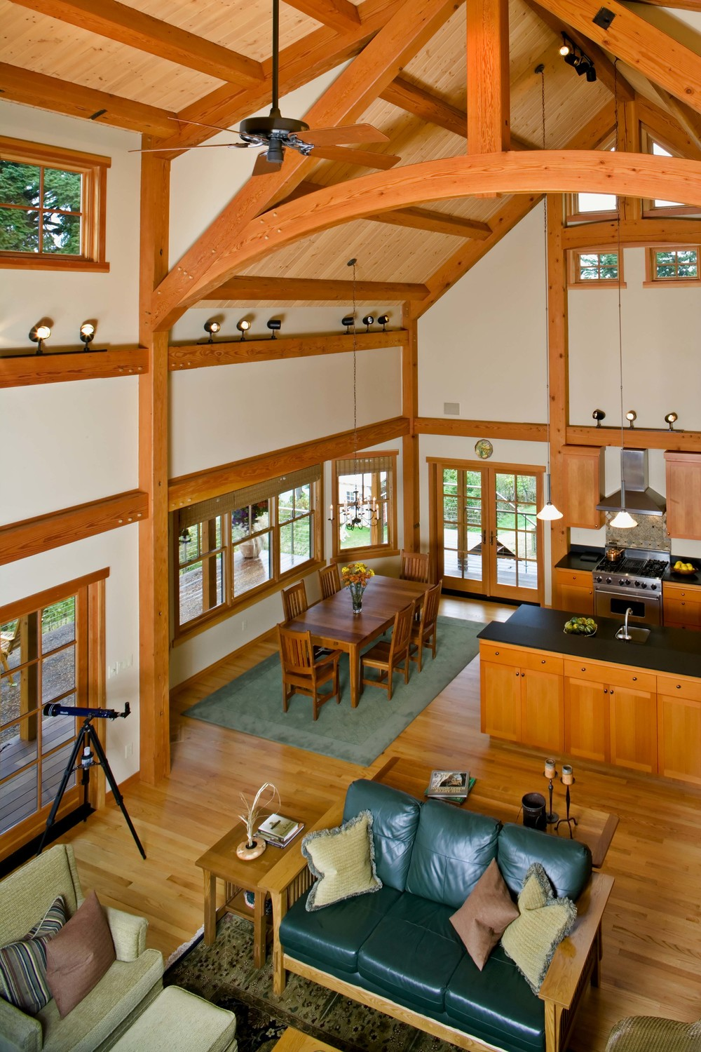 Port Ludlow Timber Frame Home - Vaulted Interior