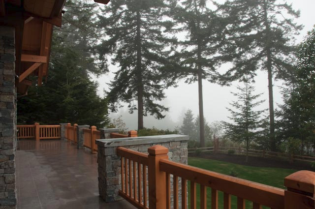 Anacortes Timber Frame Home - Deck View