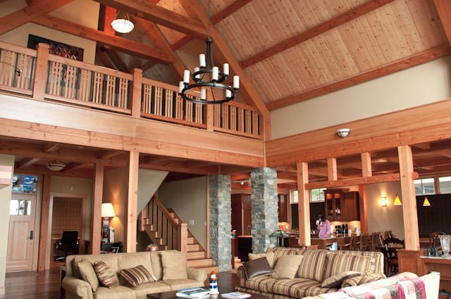 Anacortes Timber Frame Home - Timber Frame Interior