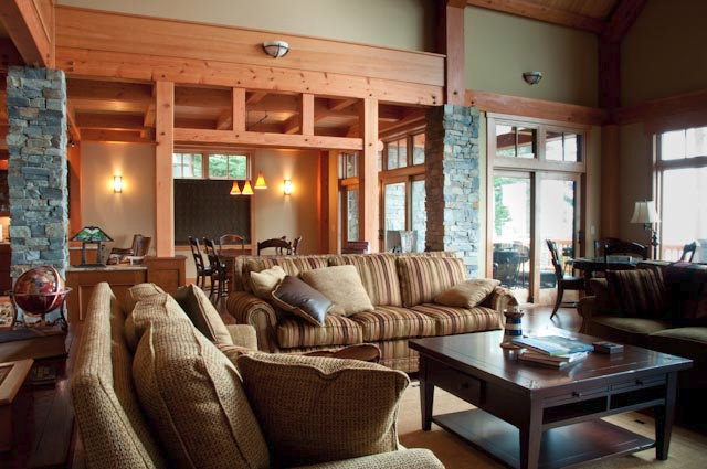 Anacortes Timber Frame Home - Living Room