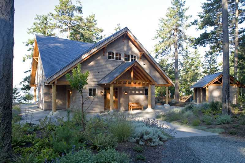 Modern Summer Home Exterior - Blakely Island, WA