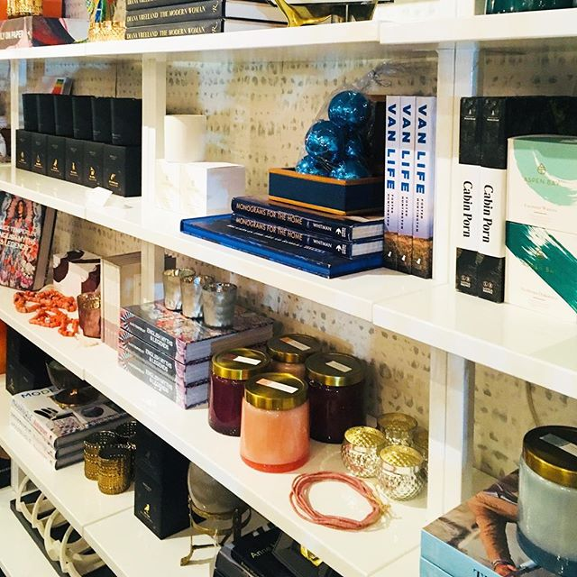 Our shelves are full for the holiday! #madisonvalley #interiordesign