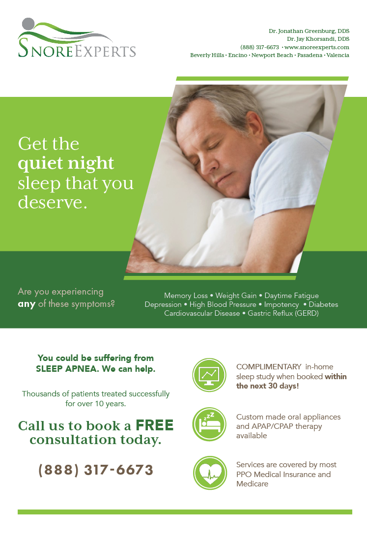 Print Ad for Snore Experts - September 2016