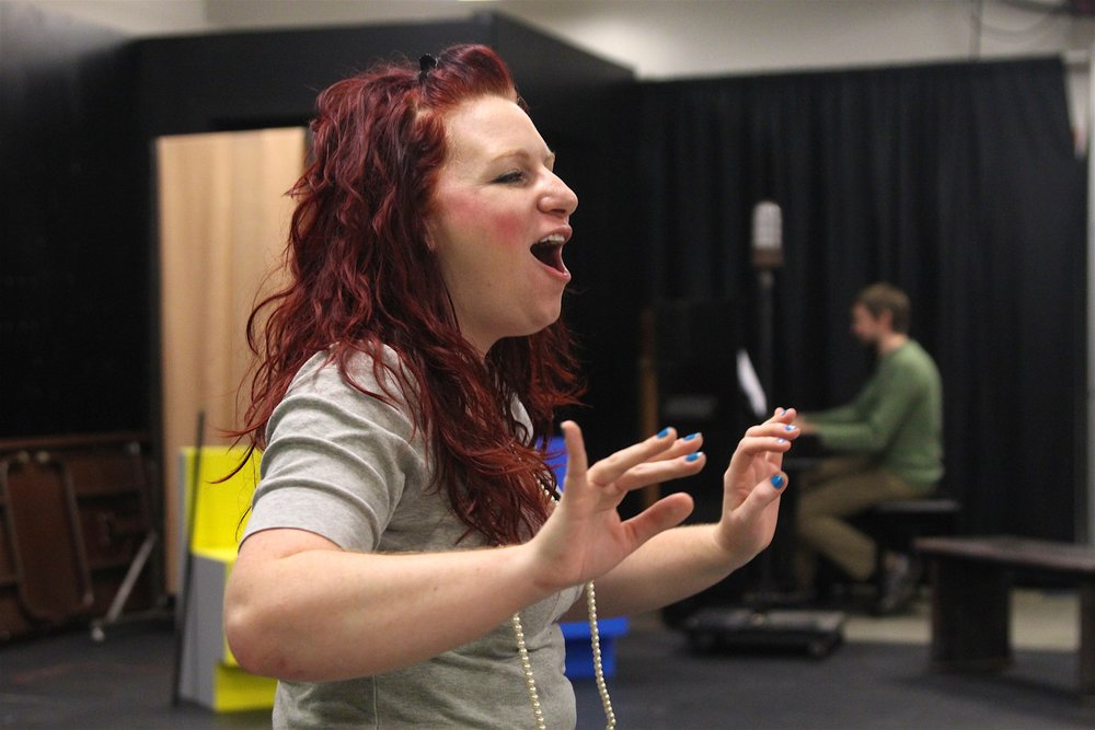 Fanny Brice (rehearsal), Jewish Theatre of Grand Rapids