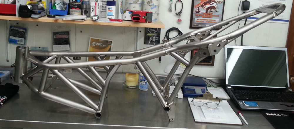 Fast Frank Racing's Titanium Ducati SportClassic frame.