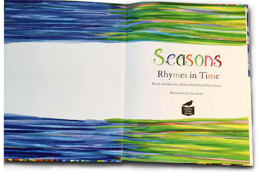 Seasons  4-C endsheets printed on self ends, using 157 gsm (100#) matt art.