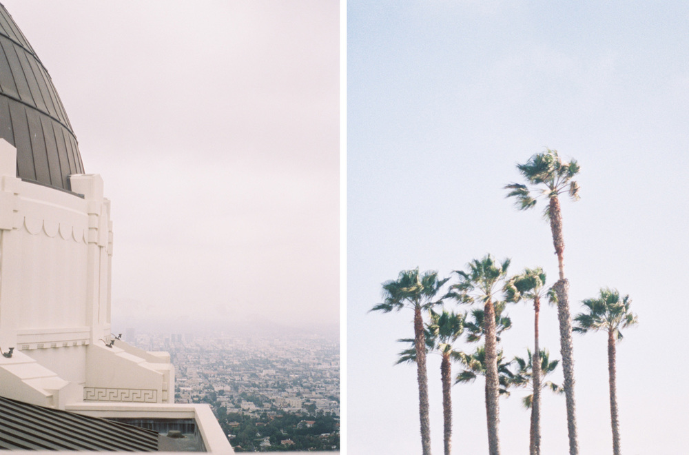 griffith observatory - los angeles trip - kate weinstein fine art film wedding photographer