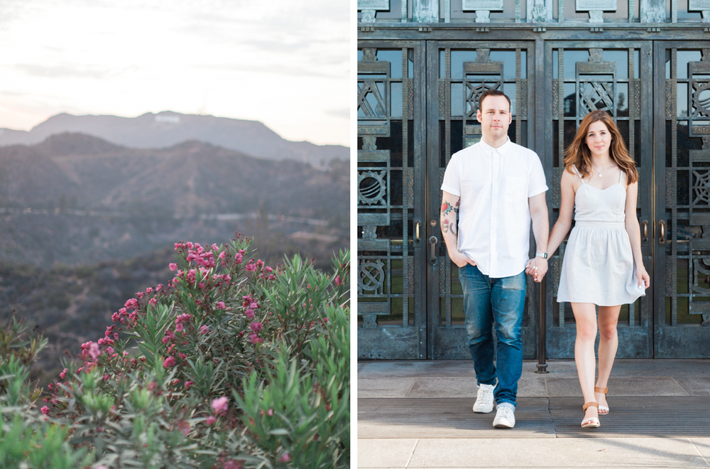griffith observatory engagement session los angeles - kate weinstein fine art film wedding photographer