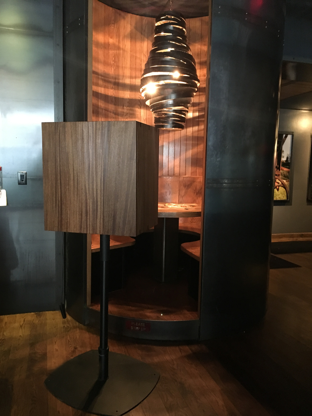 The Mahogany Photobooth at Chef Marc Murphy's Landmarc Restaurant in New York City