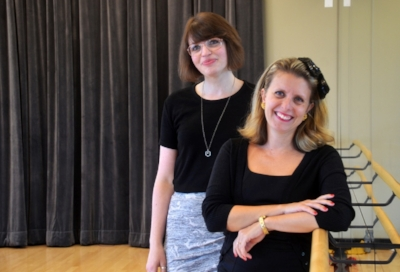 ARTS PROGRAMMER KRISTINA FIEDRICH & ARTS COORDINATOR BILIANA VELKOVA (L-R) IMAGE: TEREZA VERENCA