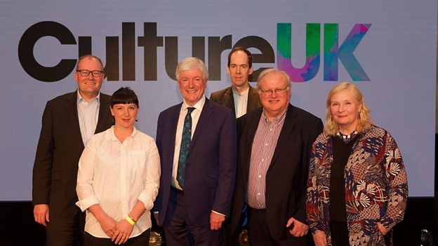 UK CULTURAL HEADS AT THE LAUNCH OF CULTURE UK IMAGE: THE BBC
