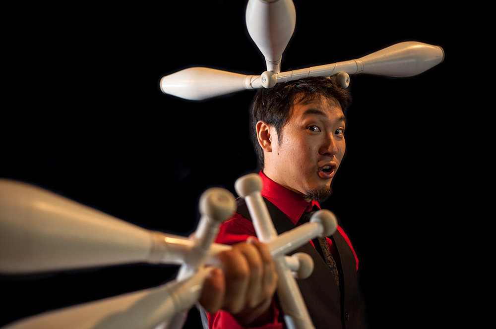 "Yuki ""The Funky Yukalator"" performs circus tricks at Richmond World Festival. | Image: Richmond World Festival"
