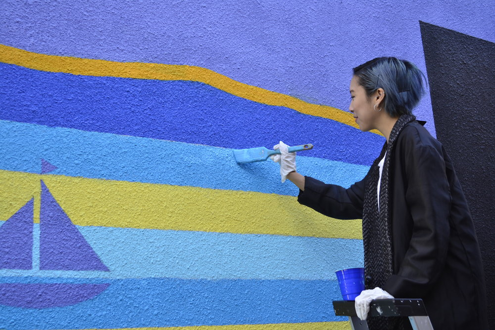 Evo & BC Culture Days Mural Project.Artist: Brynn Staples   | Erin MacKinnon