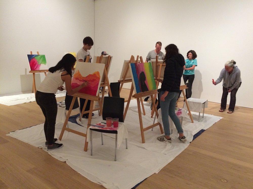 Youth Art Battle at Audain Art Museum. | Nazanin Shoja