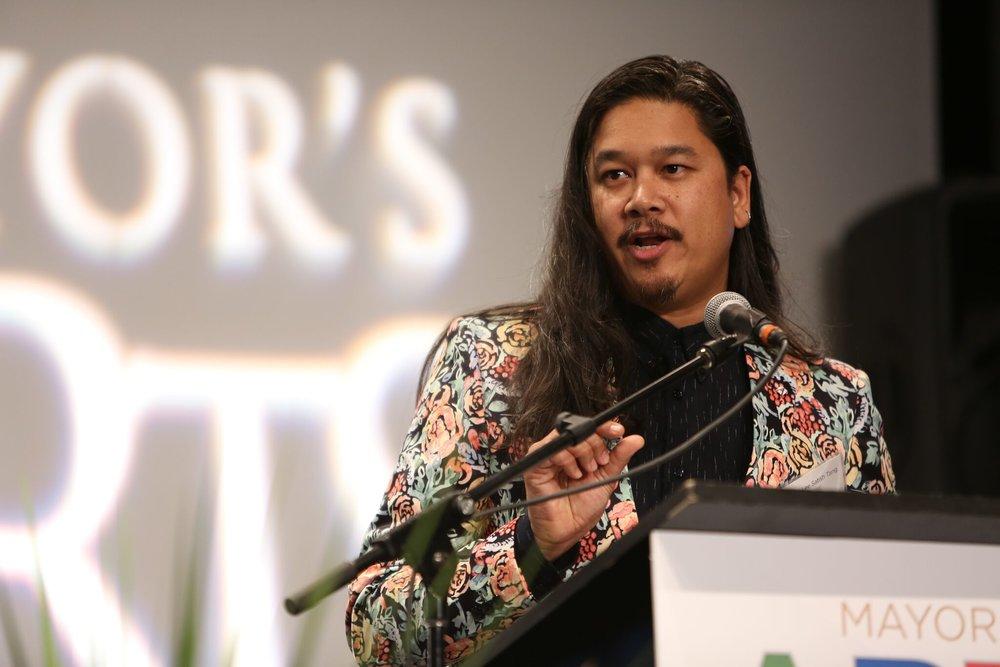 Brendan Lee Satish Tang won the Mayor's Arts Award for Craft & Design. | Image: Sarah Race.